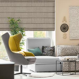 Essential Light Filtering Romans with High Quality Fabrics from SelectBlinds.com-Shown Here in Porto
