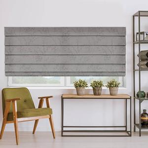 Create a Modern Floral Look with Essential Light Filtering Romans in Concrete Bloom from SelectBlind