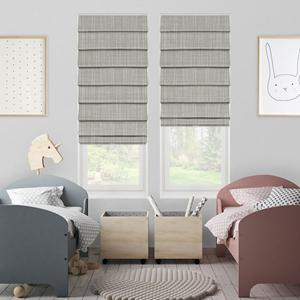 Change your view with Essential Blackout Romans from SelectBlinds.com-Shown in Birch Gray