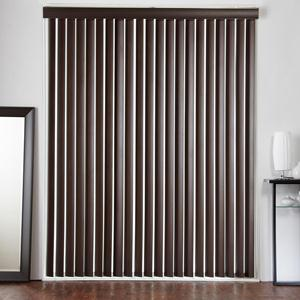 "3 1/2"" Designer Faux Wood Vertical Blinds 6020"