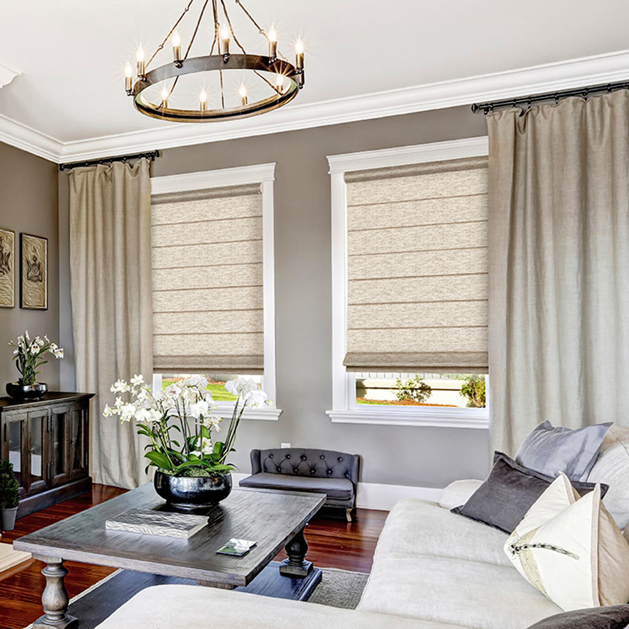 Roman shades discount roman blinds at for Select blinds