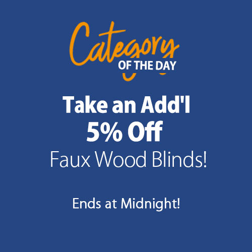 Add'l 5% Off Faux Wood Blinds