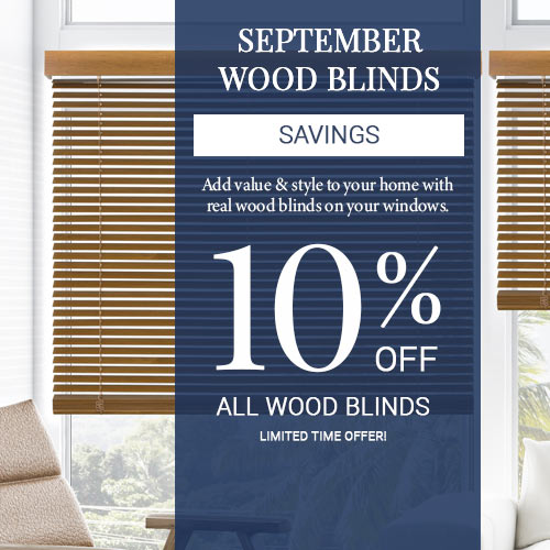 10% Off Wood Blinds