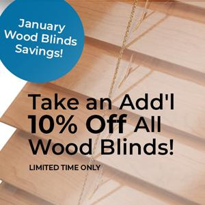 Extra 10% Off Wood Blinds