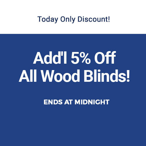 5% Off Wood Blinds