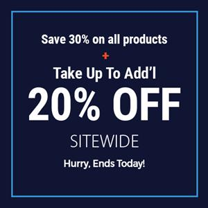 Save 30% + Up To Extra 20% Off