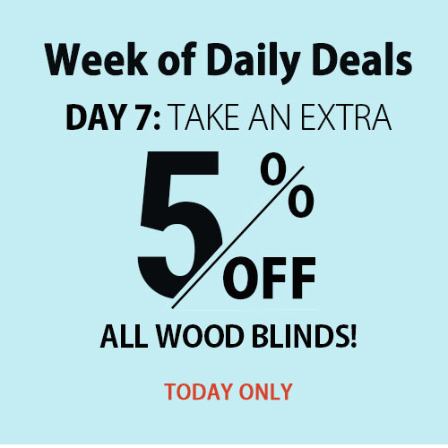 Extra 5% Off Wood Blinds