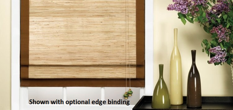 Woven Wood Shades offer just the right amount of privacy.