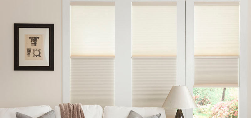 Get the best of both worlds with 1/2 Inch Day and Night Cordless Cellular Shades!