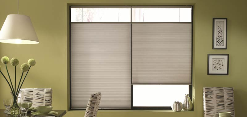 Cordless Top Down Bottom Up Cellular Shades offer privacy.