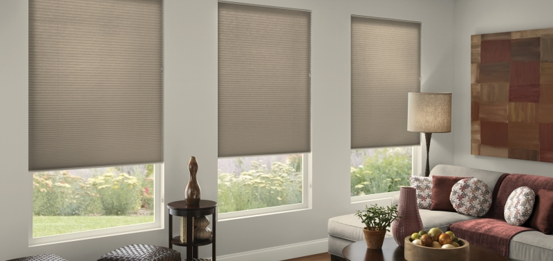 good 38 inch double cell light filtering noise reducing window coverings
