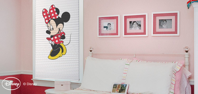 This Minnie Mouse Disney Classic Cordless Light Filter Cellular Shade is perfect for any little girls room! Also, make sure to check out the other characters we have available.