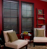 "2""  Privacy Faux Wood Blinds"
