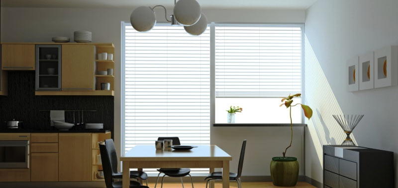 Whether you are looking for country window treatments or cottage window treatments, 2 inch faux wood blinds are the perfect fit.