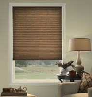 @Home Collection Solids Light Filtering Pleated