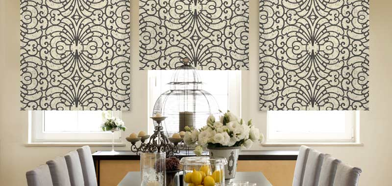 @Home Collection Blackout Roller Shades with Motorization as an option