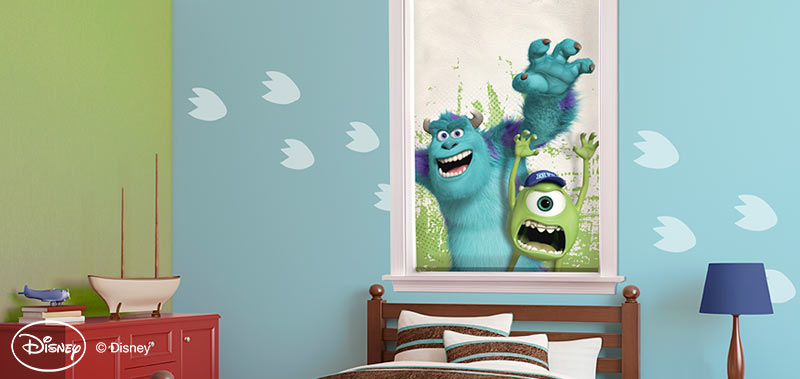 Instead of monsters in your closet, how about monsters on your window? If your child is a fan of Monsters Inc. check out these Disney Monsters Cordless Roller Shades.