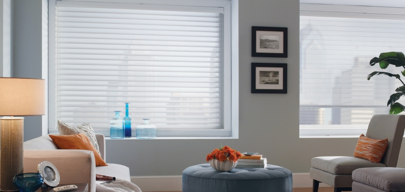 Let the natural light in with these 2 and a half inch sheer light filtering shades!