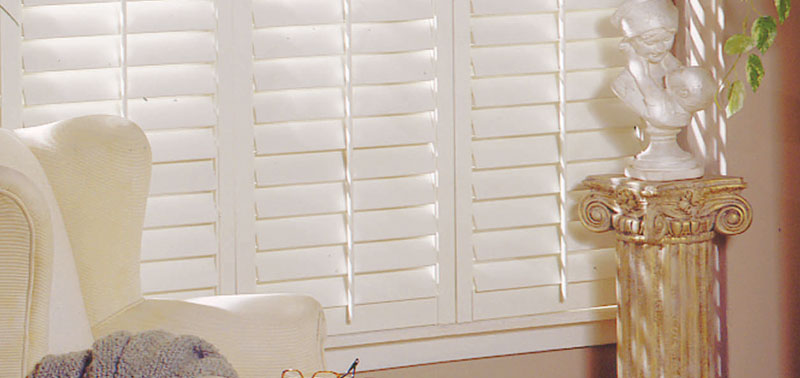 Premium Faux Wood Shutters brings your cottage country decor together!