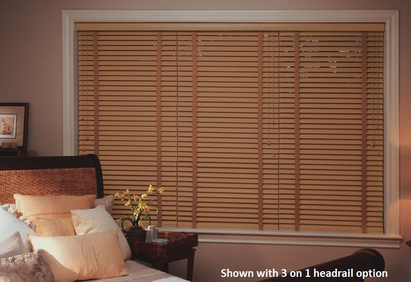 Get that rustic charm in your home with these 2 Inch Designer Basswood Wood Blinds!