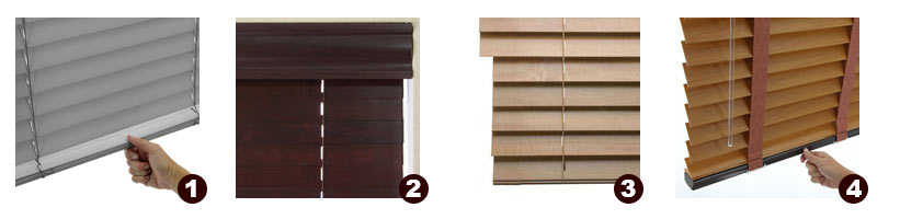 Options and Add-Ons for Faux Wood Window Blinds