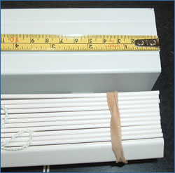 measure distance to cut on blinds headrail