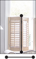 Measure the width and height of the window opening at the points where the shutters will be mounted.