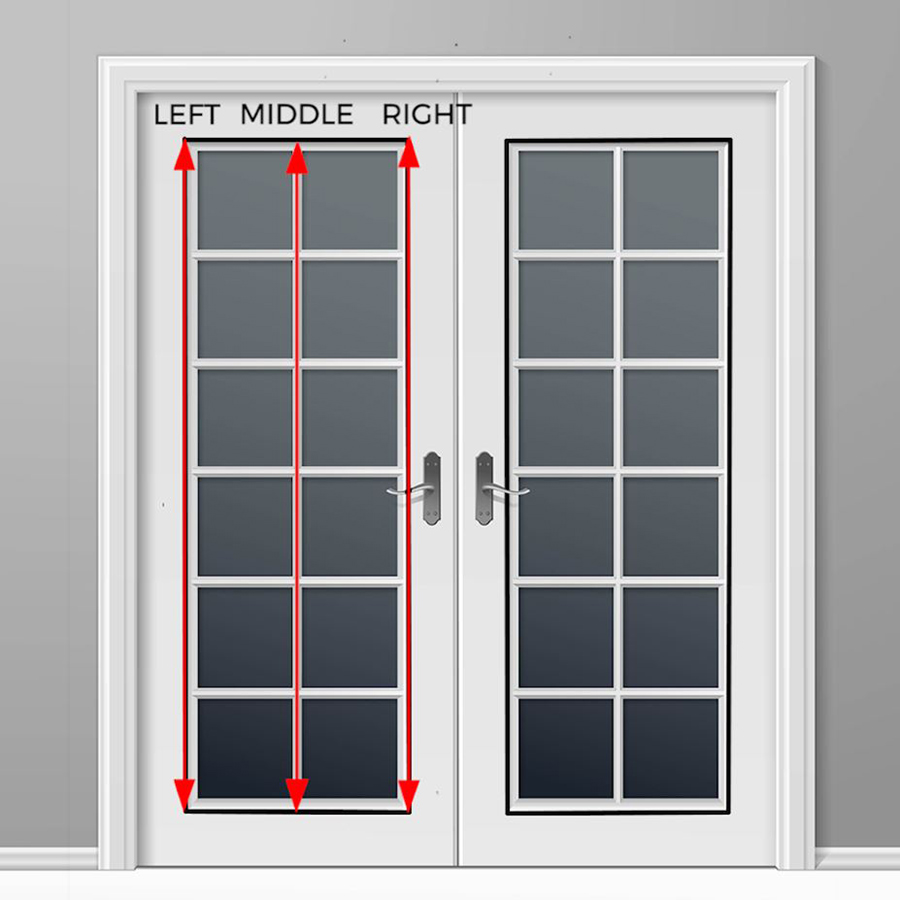 How to measure the length on french doors