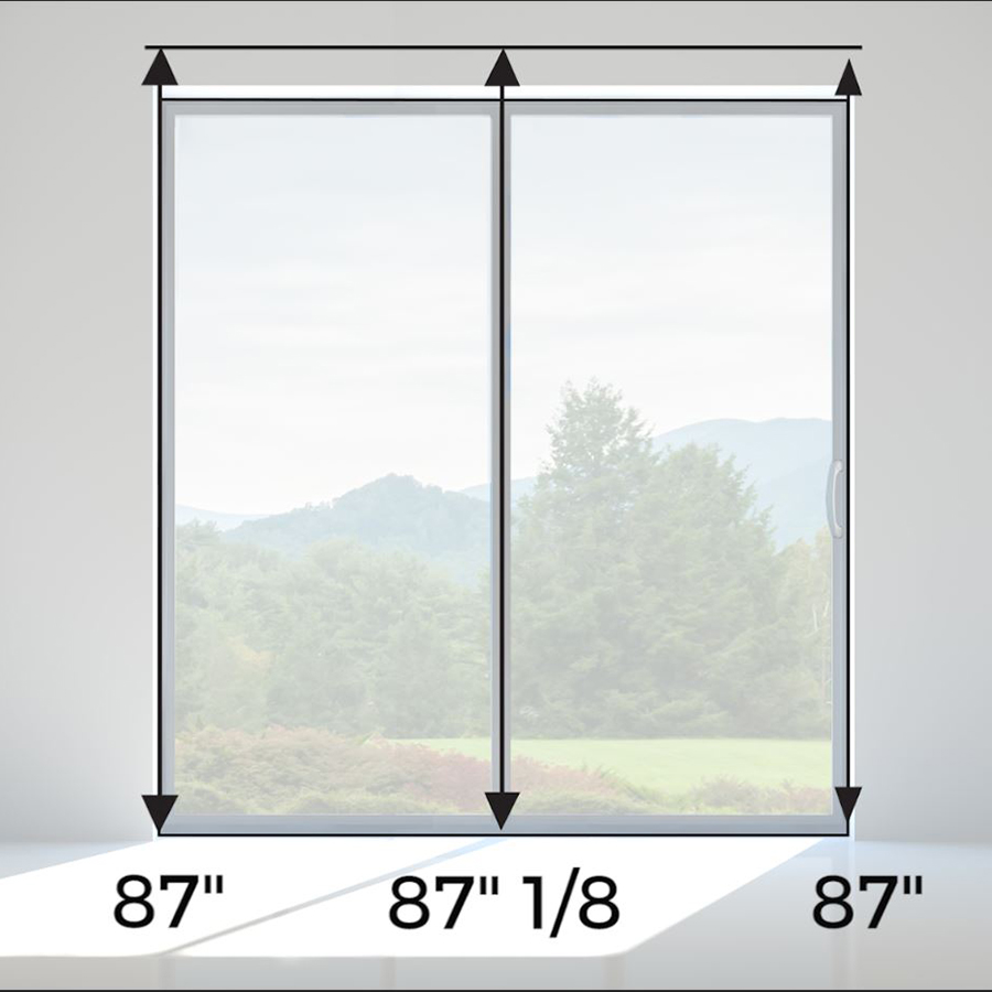 How to measure the height on sliding glass door
