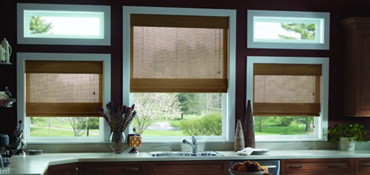 Kitchen Window Coverings Option - Extreme Woven Wood Shades