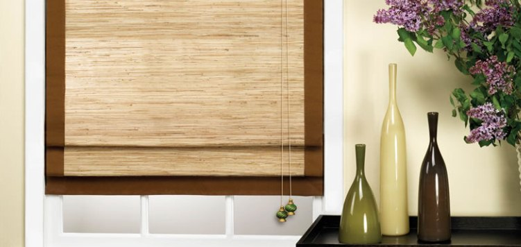 Want an earthy look and feel? These woven wood shades provide just that.