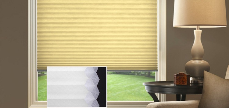 @Home Collection 3/8 Double Cell Light Filtering Custom Blinds and Shades By SelectBlinds.com