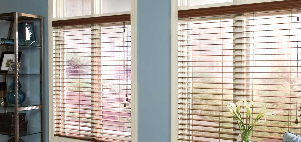 @Home Collection 2 1/2 Alloy Wood Blinds Custom Blinds and Shades By SelectBlinds.com