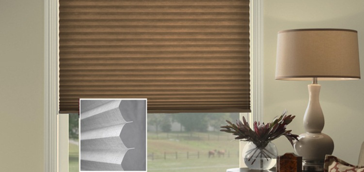 @Home Collection Solids Blackout Pleated Shades Custom Blinds and Shades By SelectBlinds.com