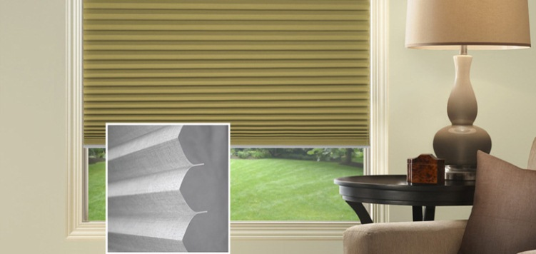 @Home Collection Solids Light Filtering Pleated Custom Blinds and Shades By SelectBlinds.com