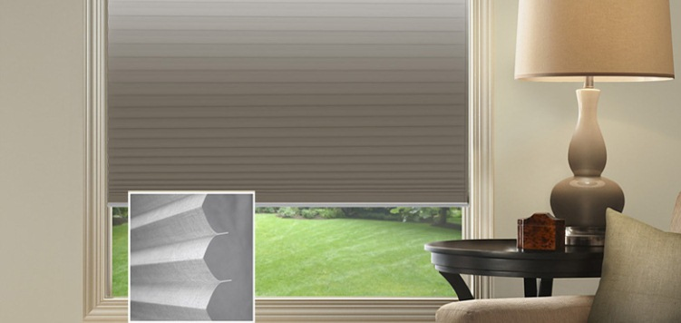@Home Collection Transitions Blackout Pleated Custom Blinds and Shades By SelectBlinds.com