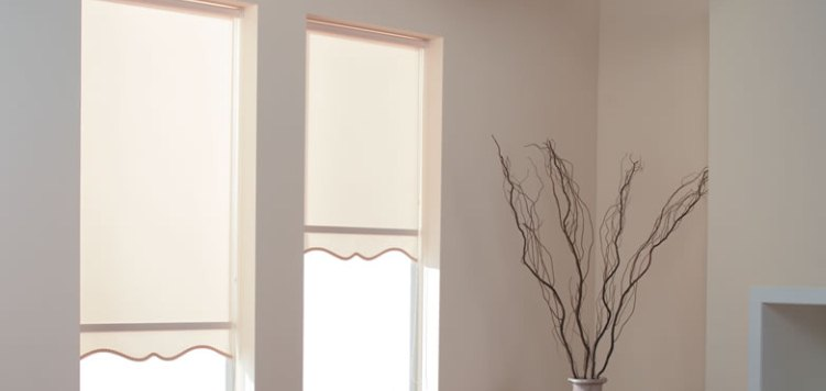 Reminiscent Vinyl Blackout Roller Shades Custom Blinds and Shades By SelectBlinds.com