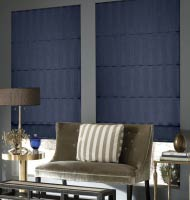 Deluxe Stripes Roman Shades
