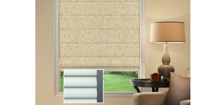 @Home Collection Light Filtering Roman Shades Custom Blinds and Shades By SelectBlinds.com