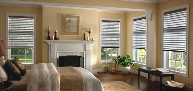 3 Room Darkening Sheer Shades Custom Blinds and Shades By SelectBlinds.com