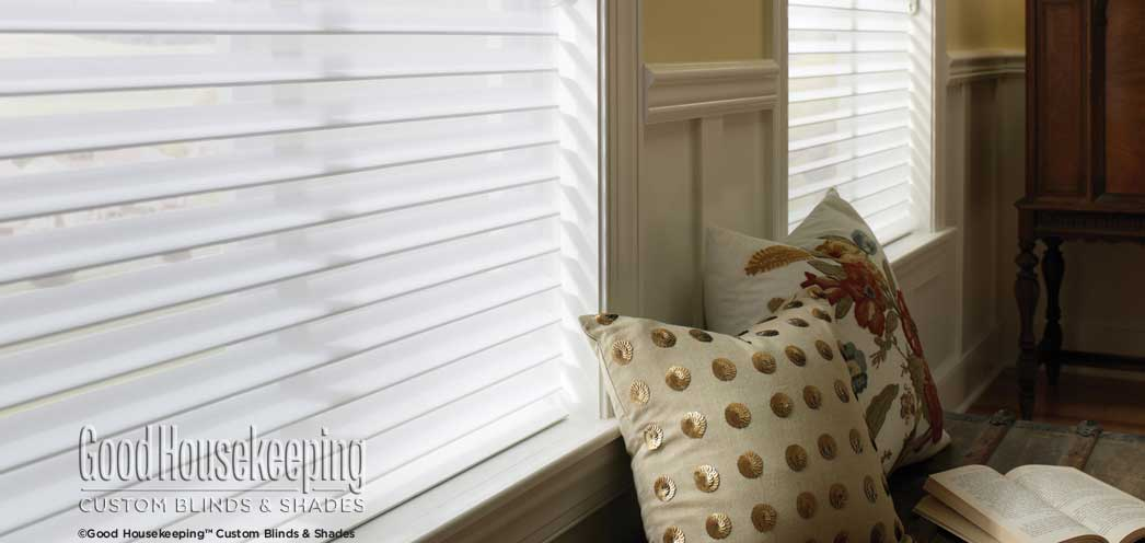 Good Housekeeping 3 Room Darkening Sheer Shades Custom Blinds and Shades By SelectBlinds.com