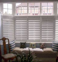 Faux Wood Cafe Style Shutters