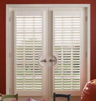Faux Wood French Door Shutters