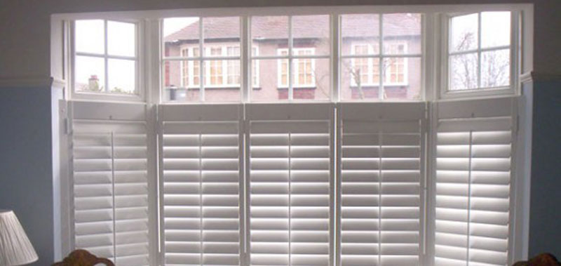 Faux Wood Cafe Style Shutters Custom Blinds and Shades By SelectBlinds.com