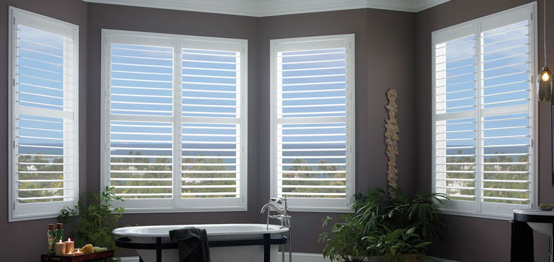Faux Wood Standard Folding Shutters Custom Blinds and Shades By SelectBlinds.com