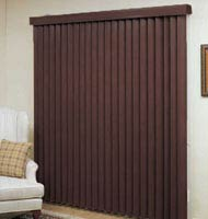"3 1/2"" Designer Faux Wood Vertical Blinds"