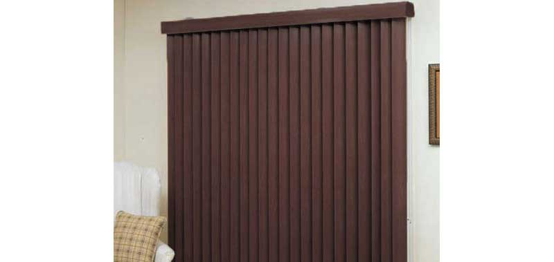 3 1/2 Designer Faux Wood Vertical Blinds Custom Blinds and Shades By SelectBlinds.com