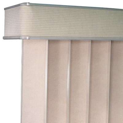Vertical blind valance