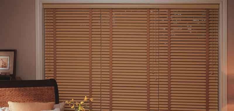 2 Designer Basswood Wood Blinds