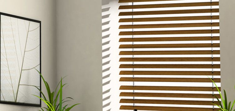 2 1/2 Inch Deep Wood Blinds can be upgraded to have motorization